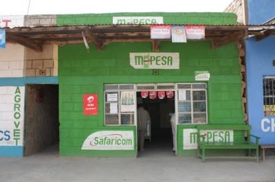 An M-Pesa shop in Masii, Kenya.