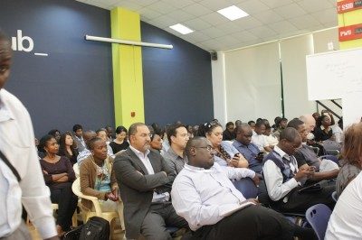 An event in session at the iHub.